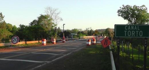 Reiteran medidas de restricción y precaución sobre Puente sobre el Arroyo Canal Torto