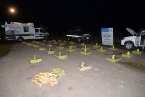 Gendarmería incautó más de 990 kilos de marihuana transportados en una camioneta