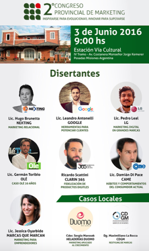 Inscriben al Segundo Congreso Provincial de Marketing que comenzará este viernes
