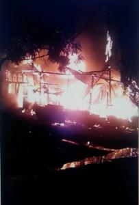 Un video muestra los primeros instantes del incendio en Villa Sarita
