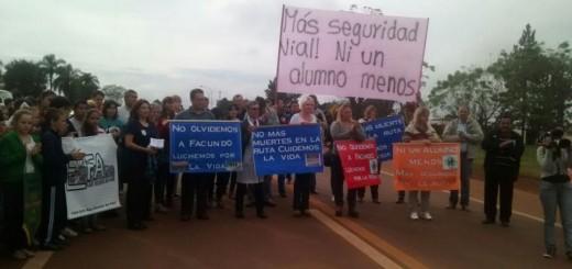 Manifestación para reclamar seguridad vial en San Vicente