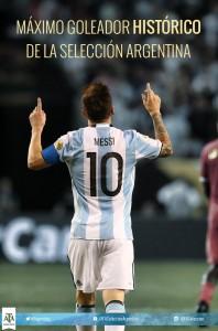 Messi se convirtió en el máximo goleador de la Selección Argentina, en el 3 a 0 a Venezuela