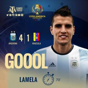 Messi se convirtió en héroe, Venezuela hizo su primer gol, Lamela convirtió el cuarto