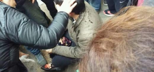 Incidentes durante el acto de Macri en Rosario: un concejal kirchnerista terminó con un corte en la cabeza