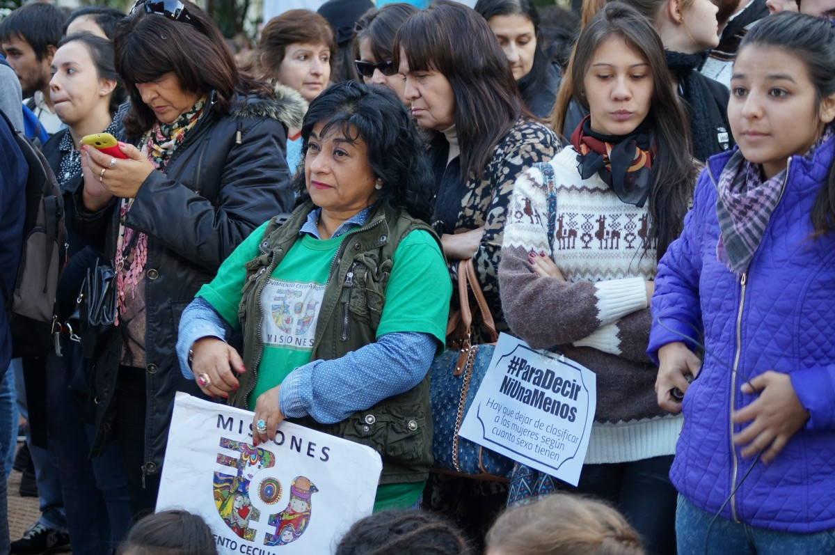Las imágenes que dejó la marcha #NiUnaMenos en Posadas