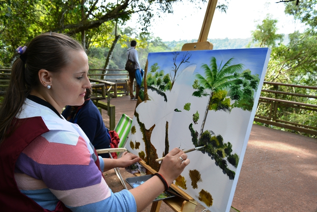 Artistas plásticos realizaron por primera vez obras en el Parque Nacional Iguazú