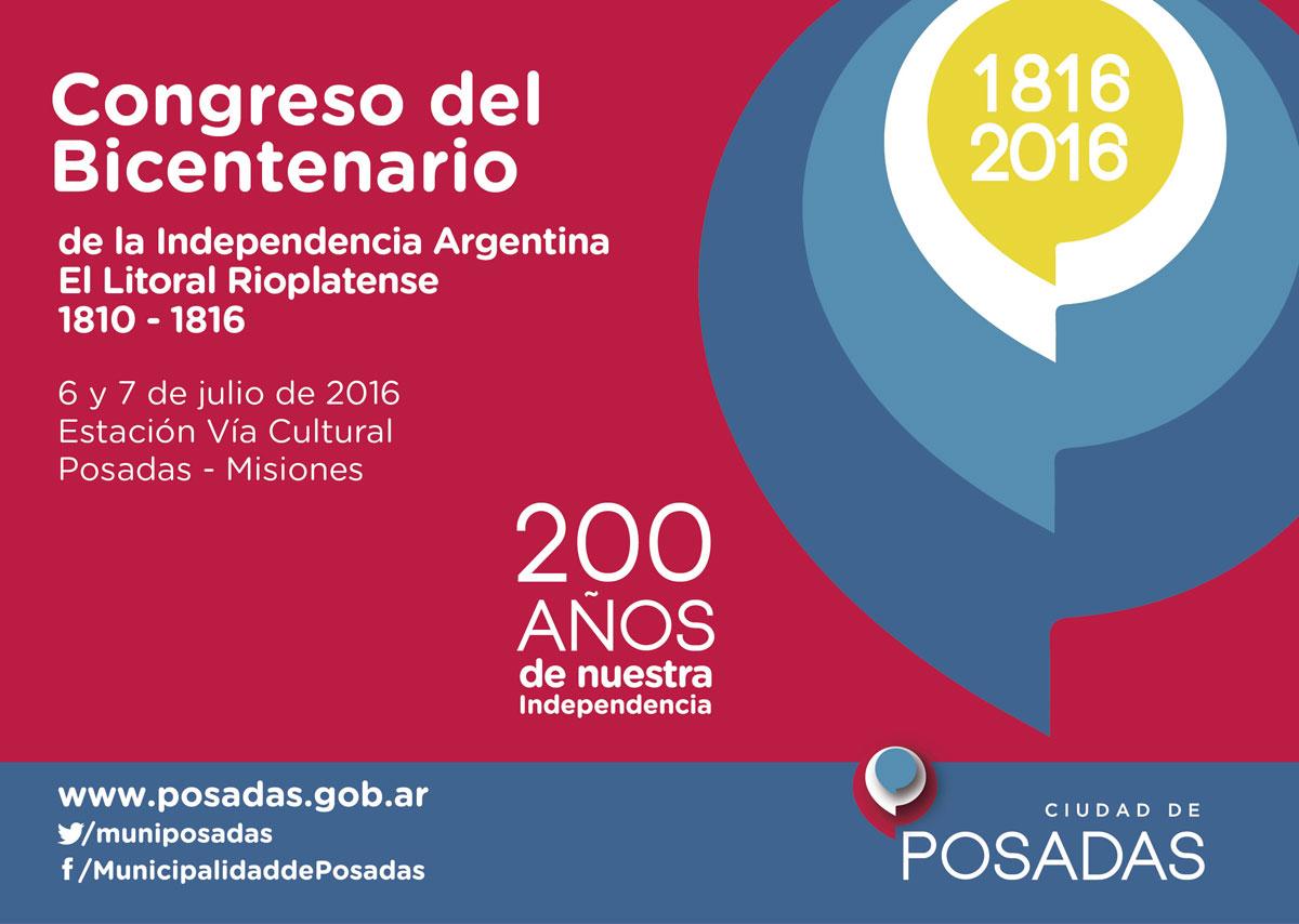 Posadas será sede del Congreso del Bicentenario de la Independencia Argentina