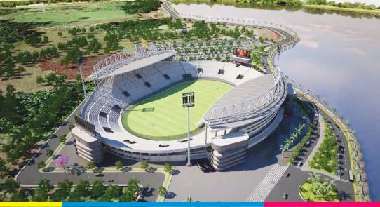 Comenzaron a construir en Encarnación un nuevo estadio para la Liga de Fútbol