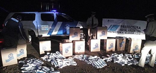 Prefectura decomisó una carga de cigarrillos que pretendían ingresar desde Paraguay