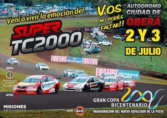 Oberá se prepara para otra fecha del Súper TC2000 en julio