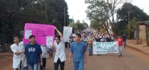 En San Ignacio marcharon para decir NO a la Trata