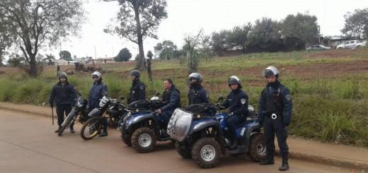 Importante operativo policial en la zona de Itaembé Miní