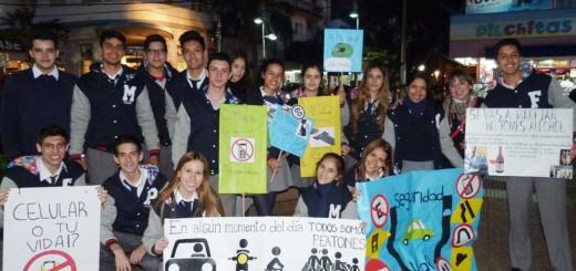 Alumnos del Roque González concientizan sobre Seguridad Vial
