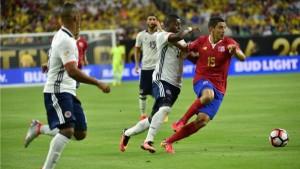 Copa América 2016: Con un gol en contra, Colombia perdió con Costa Rica y bajó al segundo puesto del Grupo A