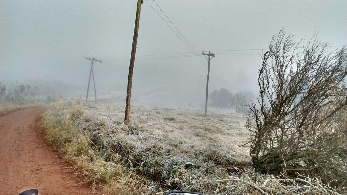 Fotos y video aéreo: Misiones está congelada y el frío comenzaría a aflojar el sábado