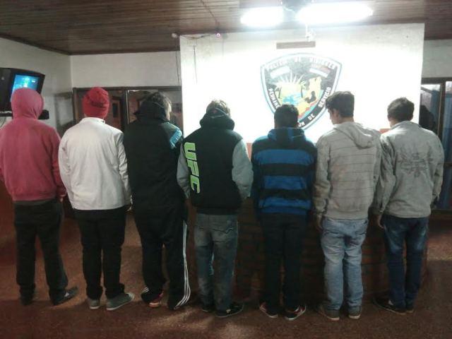 Aristóbulo del Valle: siete detenidos, tres motos y un vehículo secuestrados hoy