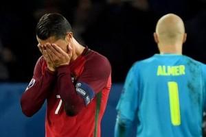 La peor noche para Cristiano Ronaldo: mirá el penal que erró y cómo se burlaron los hinchas austríacos con Messi