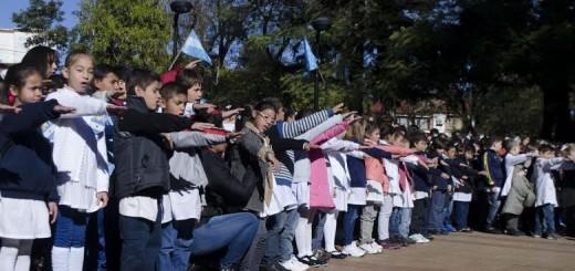 Más de 800 alumnos juraron lealtad a la Bandera en Leandro N Alem