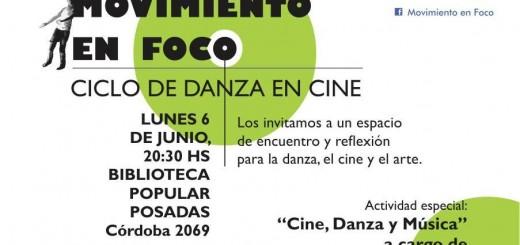 Movimiento en Foco presenta a Castiñeira de Dios para hablar de cine, danza y música