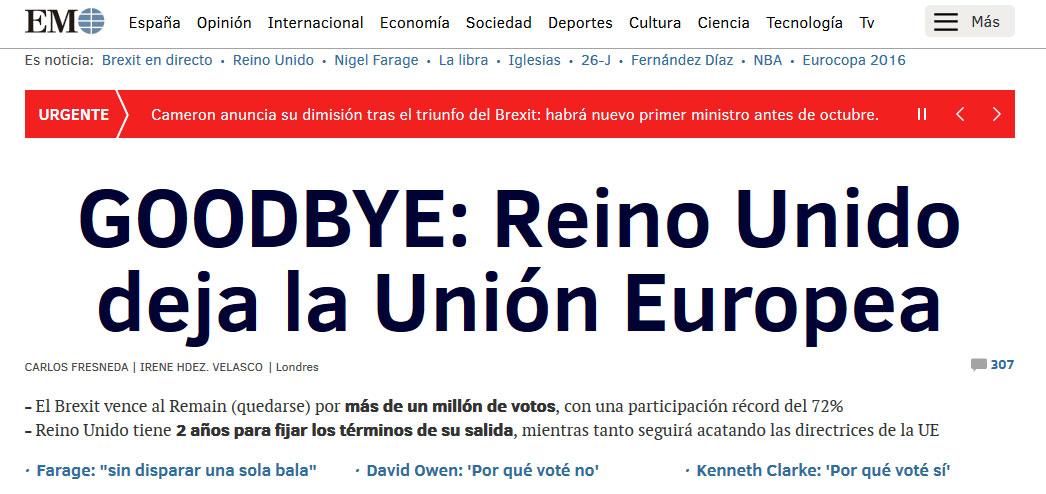 Brexit: los británicos decidieron abandonar la Unión Europea y renunció David Cameron