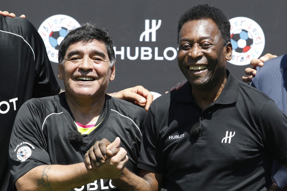 """""""No más peleas"""": Maradona y Pelé, juntos en París"""