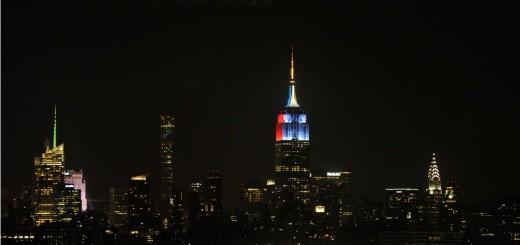 El emblemático Empire States de Nueva York lució los colores de Argentina y Chile en la previa de la final