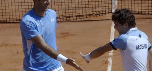 Copa Davis: Del Potro y Pella ganaron un partidazo en dobles