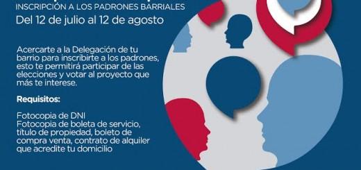Posadas: están abiertas las inscripciones para votar proyectos del presupuesto participativo