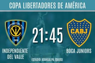 Boca visita a Independiente del Valle por la semifinal de la Copa Libertadores