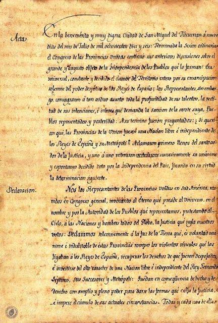 Quiénes firmaron y qué decía el acta de la Independencia hace 200 años