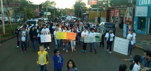 Marcharon en Iguazú para pedir el esclarecimiento de la muerte de Ana y del bebé que estaba gestando