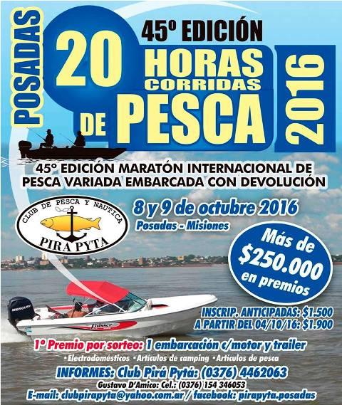 Presentaron Las 20 horas de pesca que se realizará el 8 y 9 de octubre
