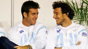 Con Juan Martín del Potro, el equipo argentino de Copa Davis parte hacia Italia