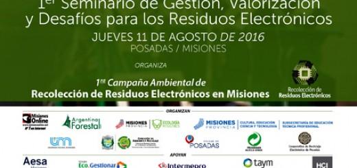 En Posadas y Puerto Iguazú se realizará un seminario sobre problemática y soluciones para los residuos electrónicos
