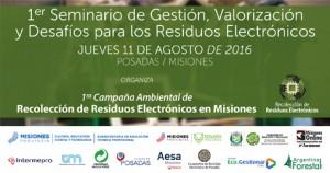 Debatirán la problemática y soluciones para los residuos electrónicos en un seminario en Misiones