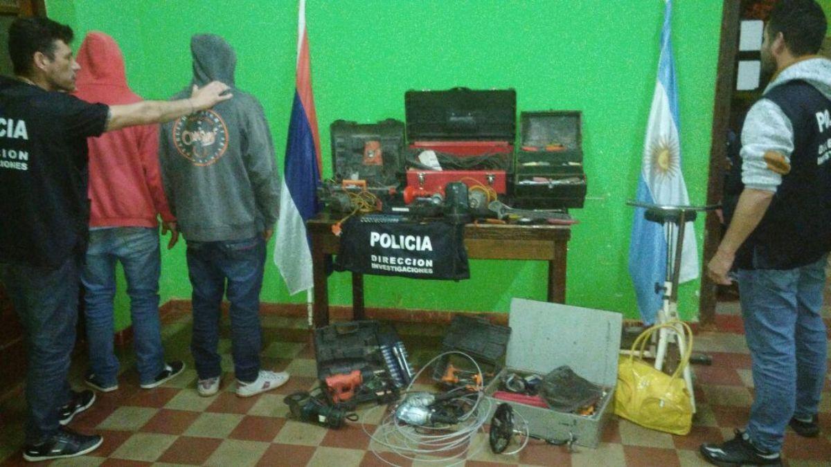 Tres detenidos por el robo en un taller de electricidad en Apóstoles