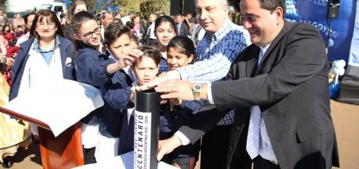Passalacqua presidió la ceremonia por los 95 años de la fundación de Bernardo de Irigoyen e inauguró una Escuela Especial