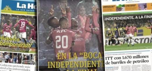 "Tras eliminar a Boca, en Ecuador aseguran que Independiente hizo ""historia"""