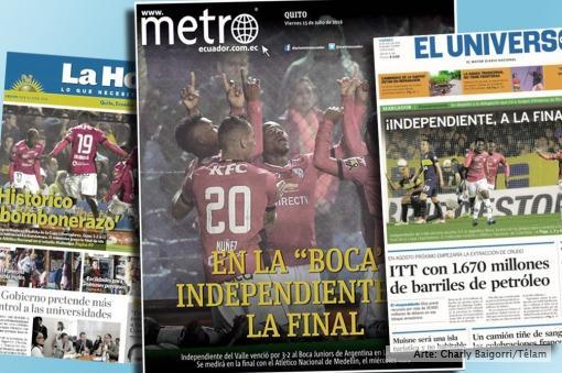 Tras eliminar a Boca, en Ecuador aseguran que Independiente hizo «historia»