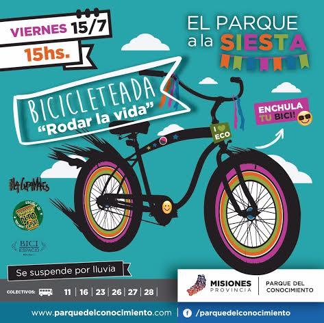 Con una gran bicicleteada este viernes el Parque del Conocimiento se llenará de color