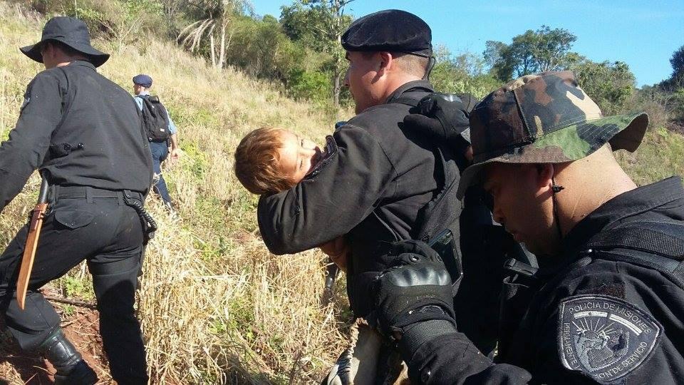 Hallaron al nene que pasó dos días perdido en el monte de Dos de Mayo