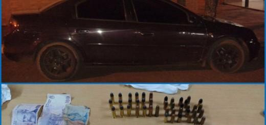 Decomisaron un coche y detienen al propietario, que tenía 20 proyectiles en su poder
