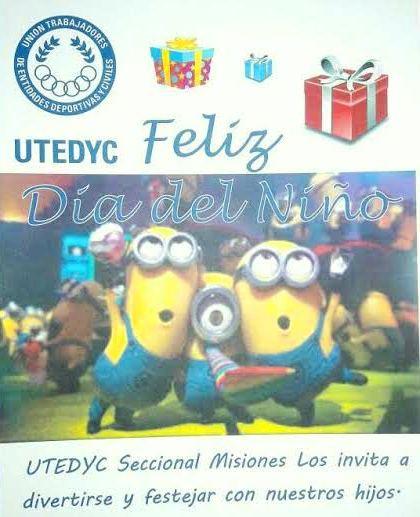 Utedyc Misiones celebra el mes del niño todos los fines de semana de agosto