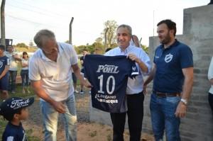 Passalacqua participó de la inauguración de la tribuna del Club Atlético Oberá