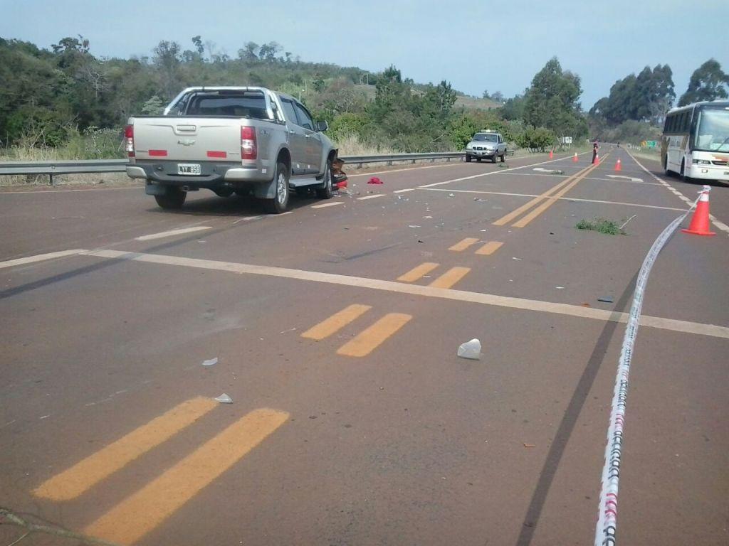 Choque en la ruta 101 dejó dos heridos en Comandante Andresito