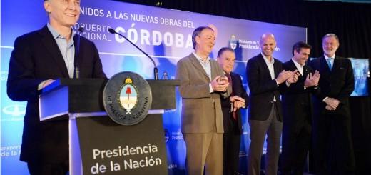 El presidente Macri inauguró las obras de remodelación del Aeropuerto Internacional de Córdoba