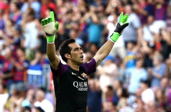 Claudio Bravo se fue de Barcelona
