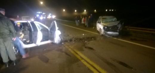 Cuatro heridos graves en un choque ocurrido a la altura del lago Urugua-í