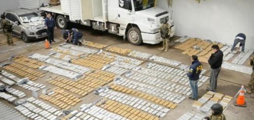 Por una llamada anónima, secuestran más de dos toneladas y media de marihuana