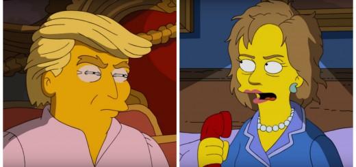 Los Simpsons votarán a Hillary Clinton